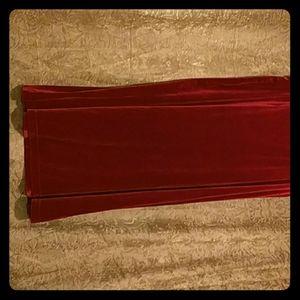 Dresses & Skirts - 1x long red velvet skirt